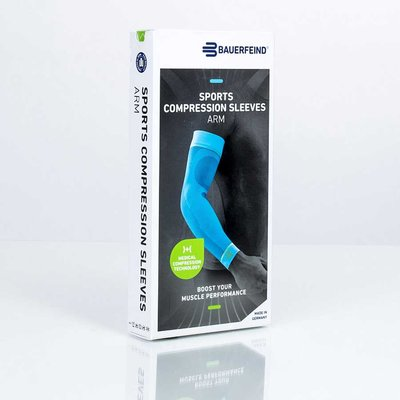 Sportstrümpfe Bauerfeind Sports Compression Sleeves Arm rot M short